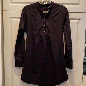 Nasty Gal black longsleeve Shirt dress size small